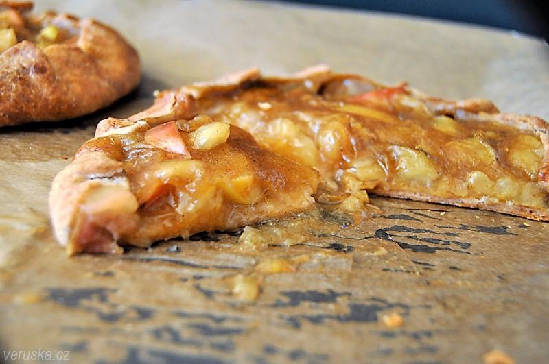 Galetka s jablečným pudinkem - detail