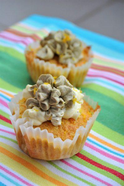Šafránové cupcakes