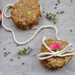 Špaldovo-ovesné sušenky s konopím a levandulí