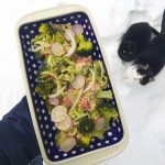 Salát z brokolice, pak choi a ředkviček