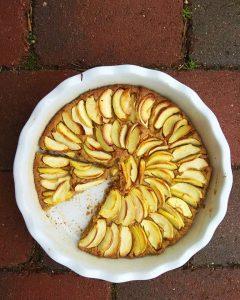 Jablečný koláč s ovesnou moukou