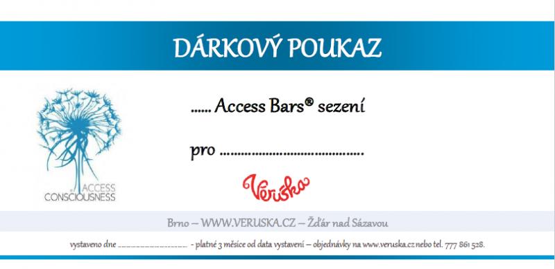 Dárkový poukaz Access Bars