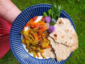 Zeleninové sabdží s plackou